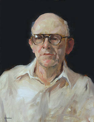 Painting - Portrait Sketch Of John Nandel, Painter by Robert Holden