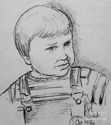 Drawing - Portrait Sketch Of Prince William by Joan-Violet Stretch