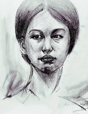 Drawing - Portrait Study 9817 by Hae Kim