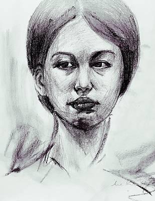 Drawing - Portrait Study 9817 by Hae Kim