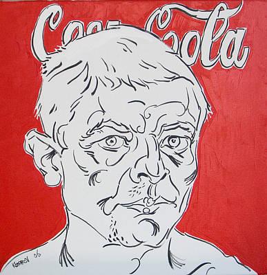 Portrait With Coca Cola Art Print by Vitali Komarov