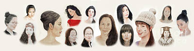 Portraits Of Lovely Asian Women II Art Print
