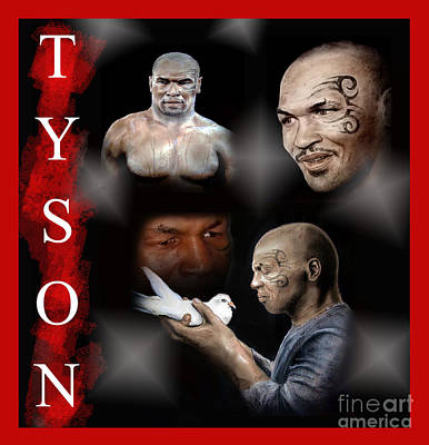 Drawing - Portraits Of Tyson by Jim Fitzpatrick