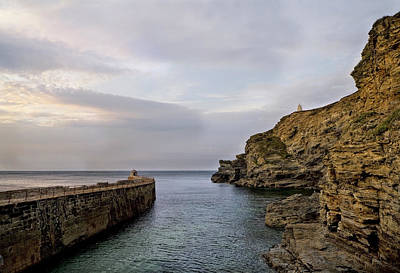 Photograph - Portreath Harbour, Cornwall Uk by Shirley Mitchell