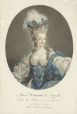 Landscape Photos Chad Dutson - Portret van Marie Antoinette, Jean Francois Janinet, after-Jean-Baptiste Andre Gautier Dagoty 1777 by Andre Gautier Dagoty