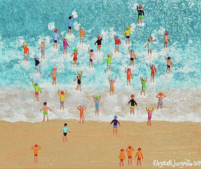 Painting - Swim Classic by Elizabeth Langreiter