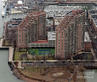 Photograph - Portside Towers Apartments Aerial Photo by David Oppenheimer