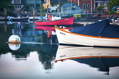 Photograph - Portsmouth Boat Reflections by Eric Gendron