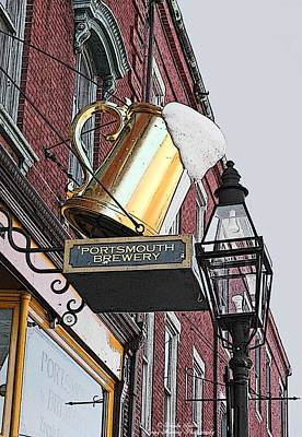 Portsmouth Brewery Art Print by Brenda Spittle