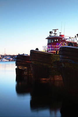 Photograph - Portsmouth Christmas Tugs by Eric Gendron