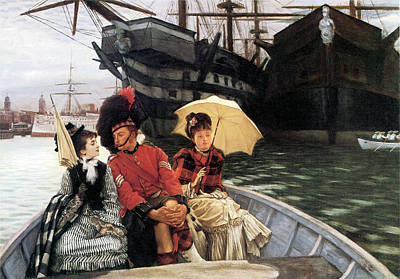 Photograph - Portsmouth Dockyard by James Jacques Joseph Tissot