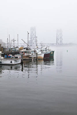 Photograph - Portsmouth Fishing Boats In The Fog by Eric Gendron
