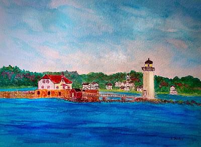 Painting - Portsmouth Harbor Lighthouse by Anne Sands