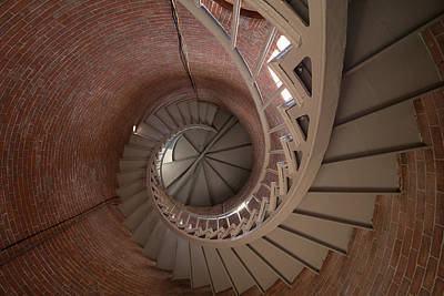 Photograph - Portsmouth Lighthouse Spiral Climb by Jeff Folger