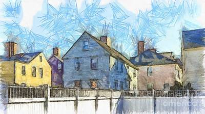Photograph - Portsmouth New Hampshire Pencil by Edward Fielding