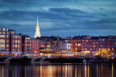 Photograph - Portsmouth, Nh Blue Hour by Dana Plourde