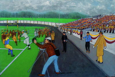 Painting - Portsmouth Spartans Vs Greenbay Packers 1930 Nfl by Frank Hunter