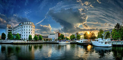Portsmouth Sunset Art Print by Williams-Cairns Photography LLC