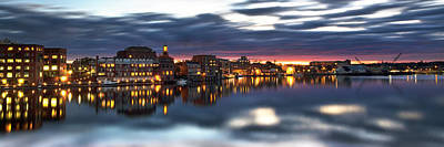 Portsmouth Waterfront Panorama Art Print