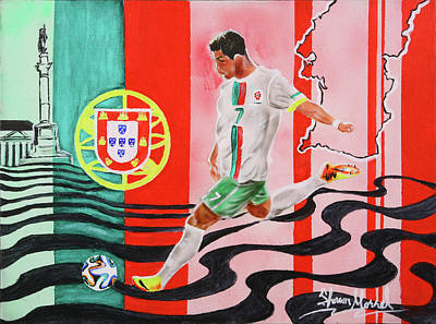 Cristiano Ronaldo Painting - Portugal by Shawn Morrel