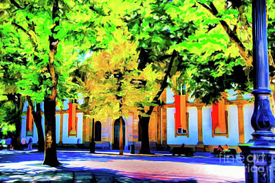 Digital Art - Portugal Small Park by Rick Bragan