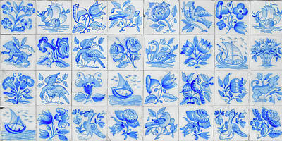Ceramic Art Photograph - Portugal Typical Tiles by Carlos Caetano