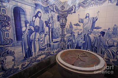 Portuguese Azulejo Mural Art Print by Gaspar Avila