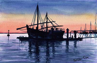 Painting - Portuguese Fishing Boat by Dora Hathazi Mendes