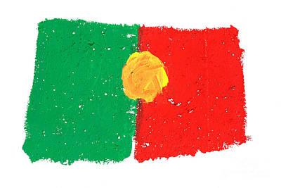 Portuguese Flag Art Print by Gaspar Avila