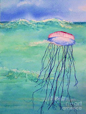 Mixed Media - Portuguese Man O War by Suzanne Krueger