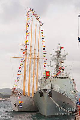 Portuguese Navy Ships Art Print by Gaspar Avila