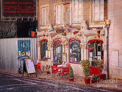 Photograph - Portuguese Outdoor Cafe by Sue Melvin
