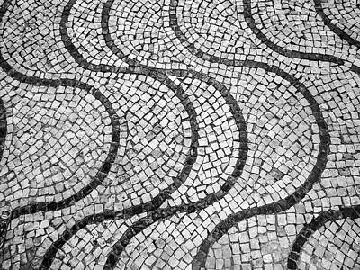 Photograph - Portuguese Pavement Patterns In Cascais by Helissa Grundemann