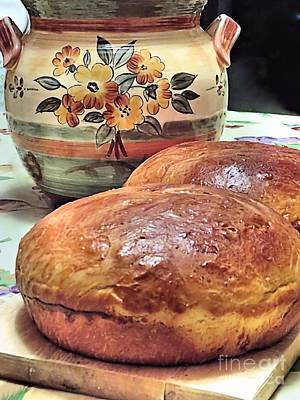 Photograph - Portuguese Sweet Bread by Janice Drew