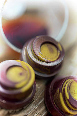 Photograph - Portwine Infused Chocolates by Sabine Edrissi
