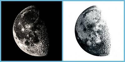 Photograph - Pos-neg Moon by Kip Vidrine