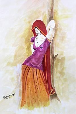 Painting - Pose by Khalid Saeed