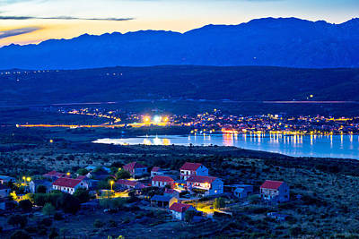 Photograph - Posedarje Bay And Velebit Mountain Sunset View by Brch Photography
