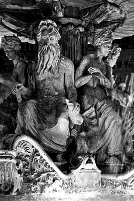 Photograph - Poseiden And Friends - B-w by Christopher Holmes