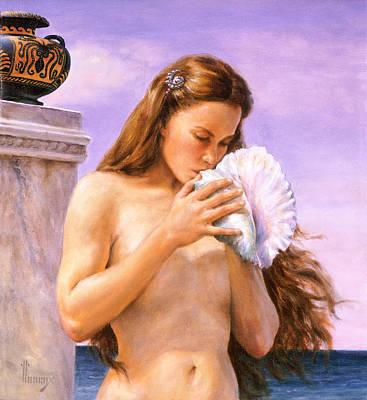 Poseidon's Daughter Art Print by Richard Hescox