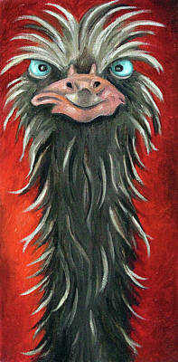 Emu Painting - Poser 3 by Leah Saulnier The Painting Maniac