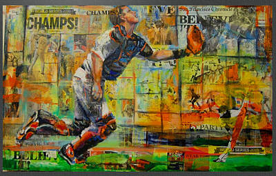 Buster Posey Painting - Posey's Grab by Robert Marosi Bustamante