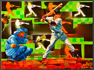 Buster Posey Painting - Posey's Pop by Robert Marosi Bustamante
