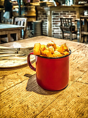 Photograph - Posh Fries by Nick Bywater