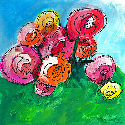 Posies Art Print by Tonya Doughty