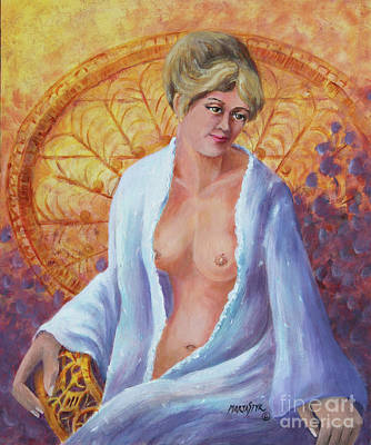 Posing Art Print by Marta Styk