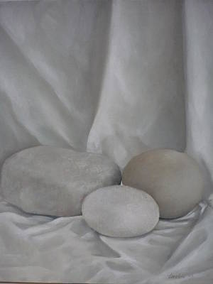 Painting - Posing Pebbles by Caroline Philp