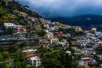 Photograph - Positano Along The Amalfi Coast by Marilyn Burton