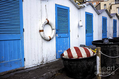 Positano Beach Doors Art Print