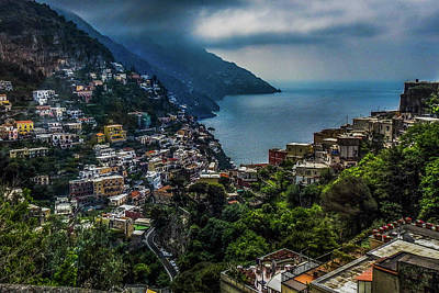 Photograph - Positano By The Amalfi Coast by Marilyn Burton